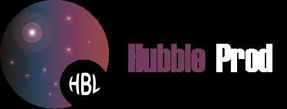 Logo Hubble Prod Grenoble Blanc - Communication marketing Grenoble Isère France - Haute qualité - Community Management - Création et gestion de contenu - Community Manager - Photographe - Vidéaste - Création de site internet - Informaticien - Web Designer